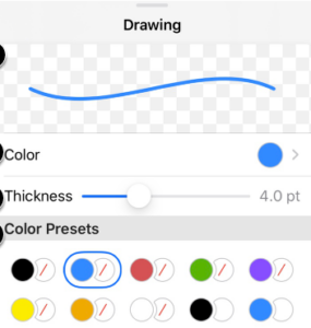 Canvas app annotations colors