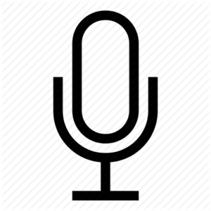 Dictation microphone symbol
