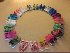Shoes in a Circle at Barcroft DpBr2hMXoAEbAaM