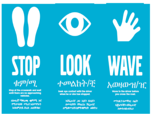 Stop Look Wave Amharic Photo