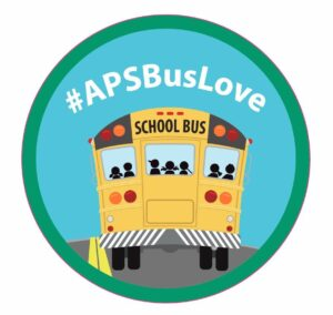 APS Bus Love Sticker Graphic
