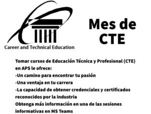 SY2020-2021-CTE-Month-Flyer Spanish