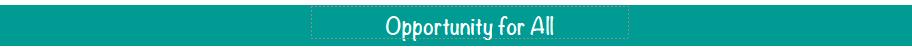 Bannière Opportunité pour tous