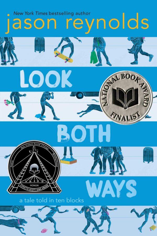 Обложка книги Джейсона Рейнольдса «Взгляни в обе стороны: история, рассказанная десятью блоками»