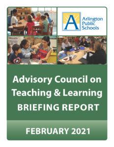 Hội đồng cố vấn về việc dạy & học bìa báo cáo