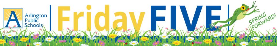 FridayFive logo - spring break