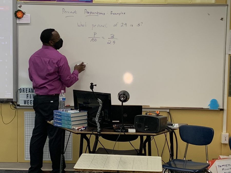 math teacher at smartboard