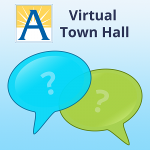 APS Virtual Town Hall 로고