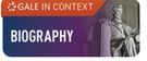 Gale biography database logo