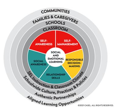 SEL competencies and interdependencies graphic