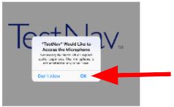 TestNav 허용 마이크 확인