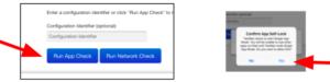 TestNav 실행 앱 확인
