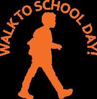 marcher jusqu'au logo de la journée d'école