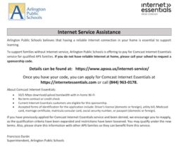 包含有關信息的多語言傳單 APS 互聯網基礎服務